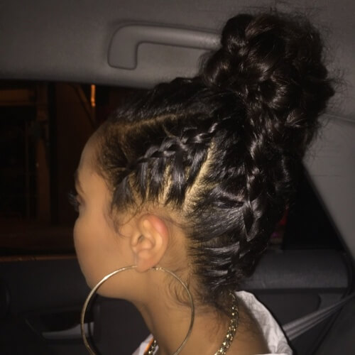 Braids into Bun Hairstyles