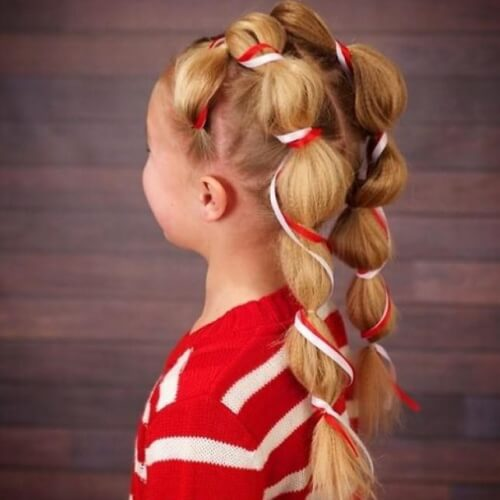 Candy Cane Pigtails