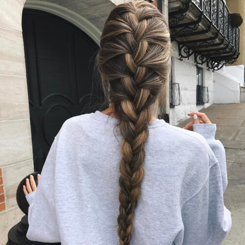 Classic French Braids for Long Hair