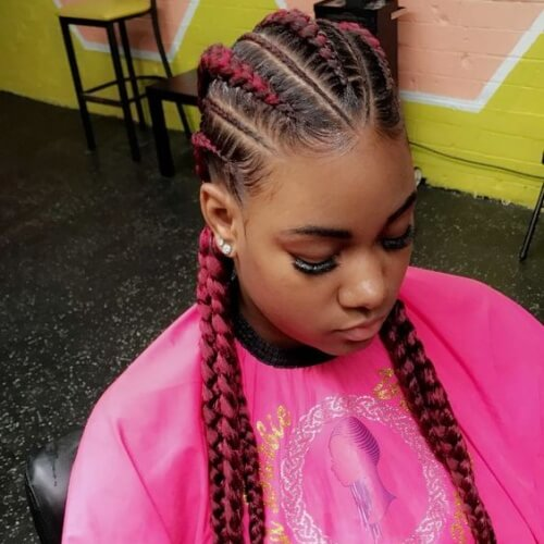 Colorful Protective Hairstyles
