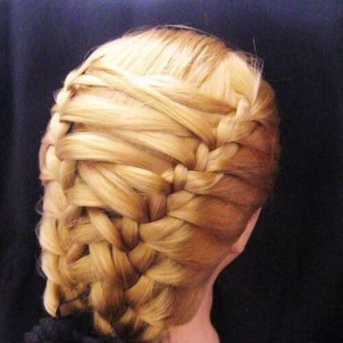 Criss Cross French Braid Hairstyles
