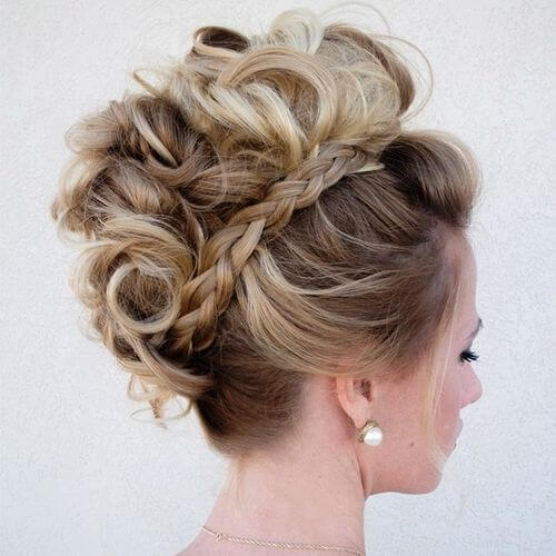 Faux Hawk with Braid Hairstyles