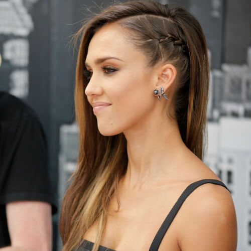 Faux Side-shaved French Braid Hairstyles