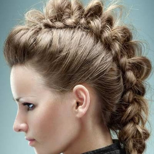 French Braid Faux Hawks