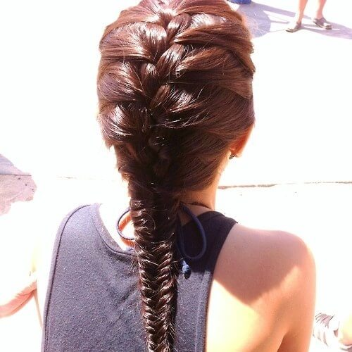French and Fishtail Braid Hairstyles