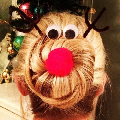 Funny Hairstyles for Christmas Party