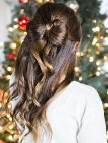 Hair Bow Hairstyles for Christmas Party