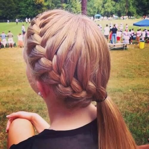 Half Side French Braid Hairstyles