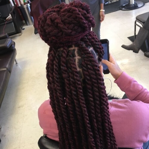 Half Up Protective Hairstyles