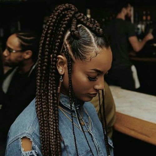 High Ponytail Braids