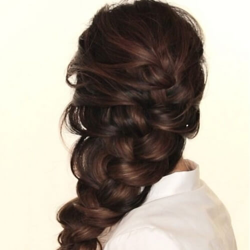 Knotted French Braid Hairstyles