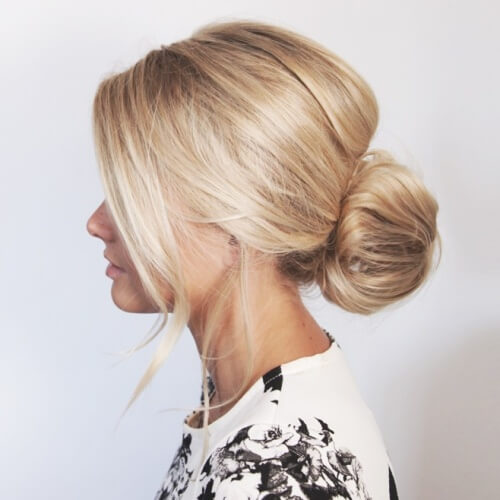 Low Bun Hairstyles for Christmas Party