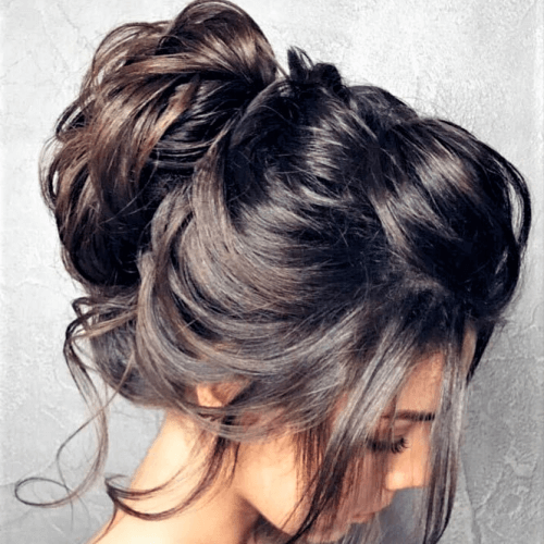 Messy Updo Hairstyles for Christmas Party