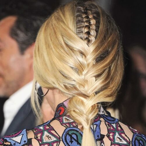 Overlapping French Braid Hairstyles