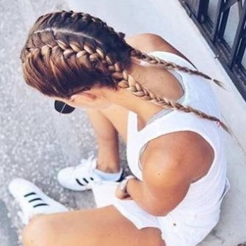 Pigtails with French Braids