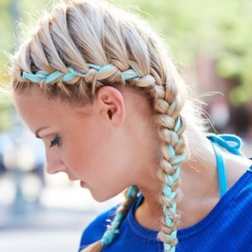 Ribbon French Braids