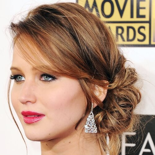 Side Bun Hairstyles for Christmas Party
