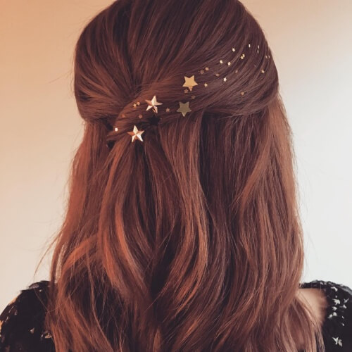 Starry Hairstyles for Christmas Party