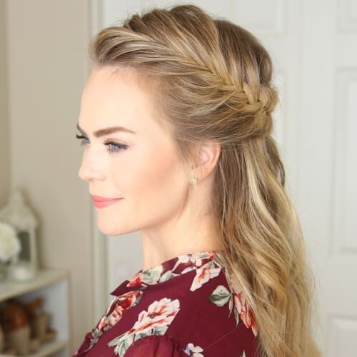 Subtle Half Up French Braid Hairstyles