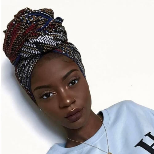 Turban Protective Hairstyles for Natural Hair
