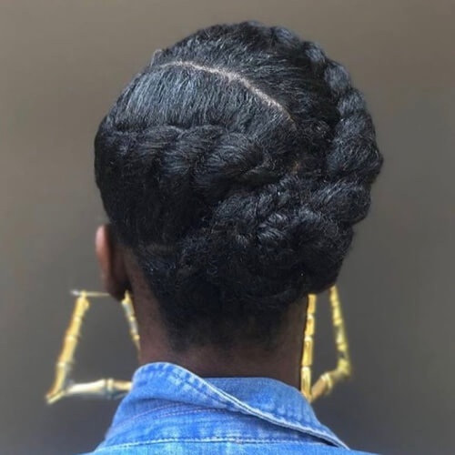 Twisted Updo Protective Hairstyles for Natural Hair