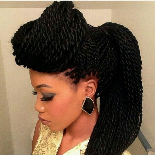Updo Hairstyles for Christmas Party with African Braids