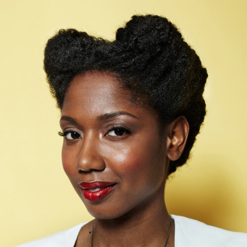 Victory Rolls Protective Hairstyles for Natural Hair