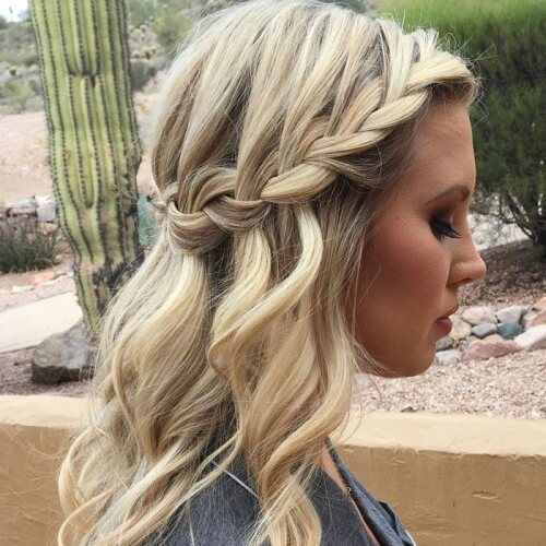 Waterfall Braid Hairstyles
