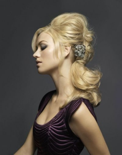 yvonne strahovski teased hairstyles for long hair