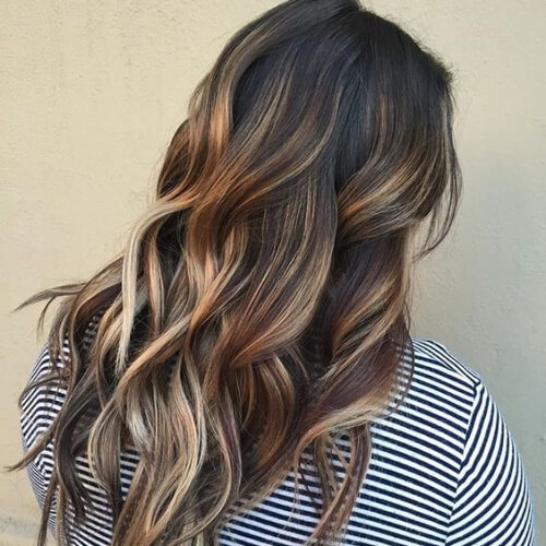 Blonde and Honey Brown Highlights Mix