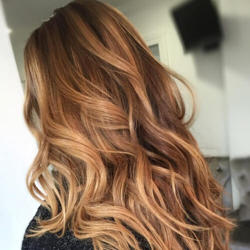 Honey Brown Hair Balayage