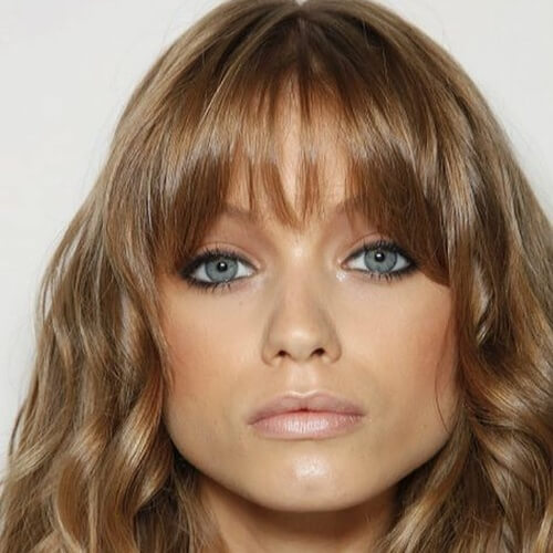 Honey Brown Hair with Bangs