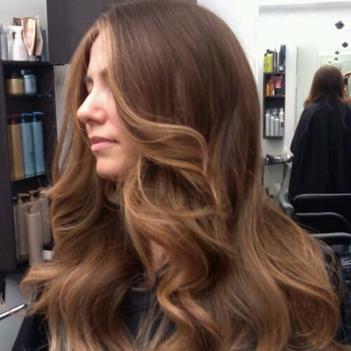 Layered Honey Brown Hairstyle