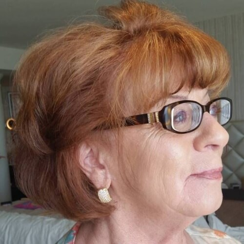 Mature Honey Brown Hairstyle