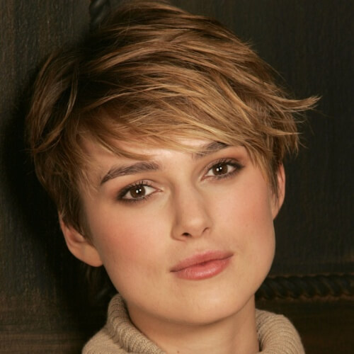 Pixie Cut with Honey Brown Locks