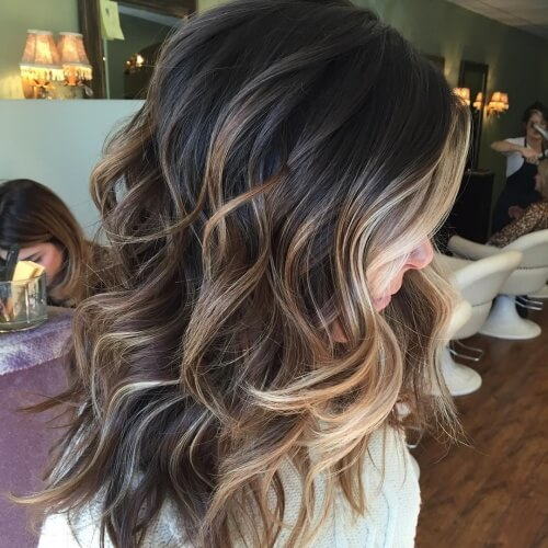 Silver to Honey Brown Hair Highlights