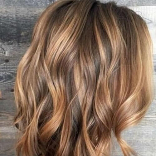 Wavy Honey Brown Locks