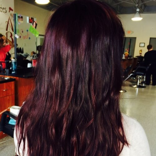 Black Cherry Color with Mixed Tones