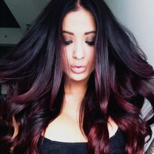 Black Cherry Hair Ombre