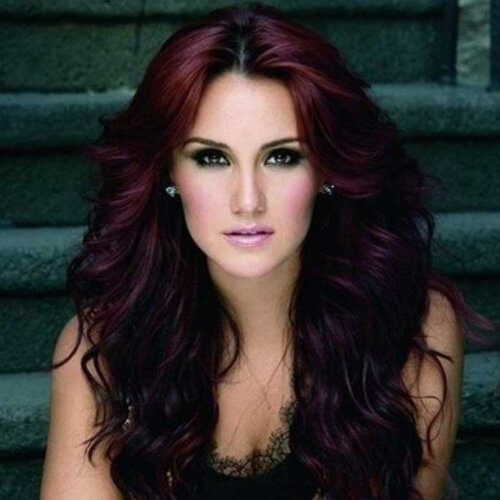 Black Cherry Hair with Red and Plum Accents