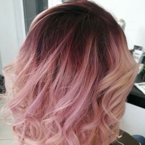 Black Cherry Roots with Pastel Champagne Hair