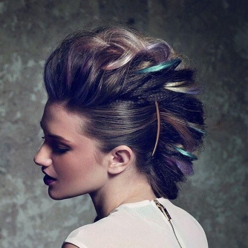 Curly Faux Mohawk Photo Credit Pinterest Com