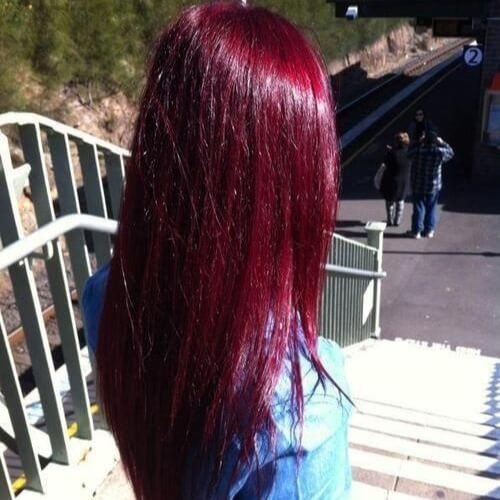 Bright Black Cherry Hair