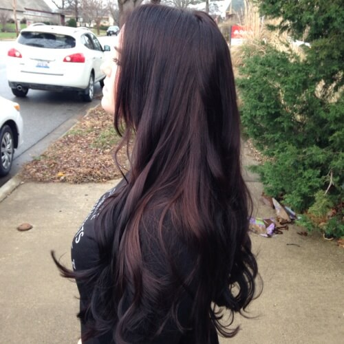 Chocolate Black Cherry Hair