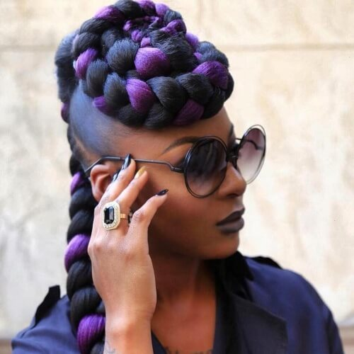 Crown Mohawk Braid