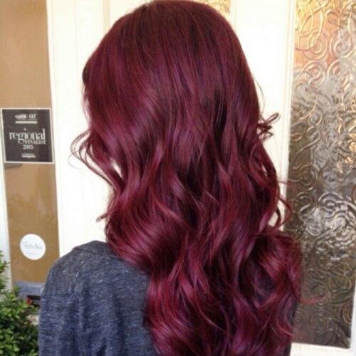 Dark Magenta Hair