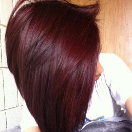 Deep Wine Hair