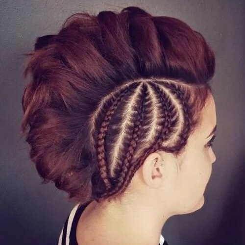 Faux Hawk with Reverse Side Braids