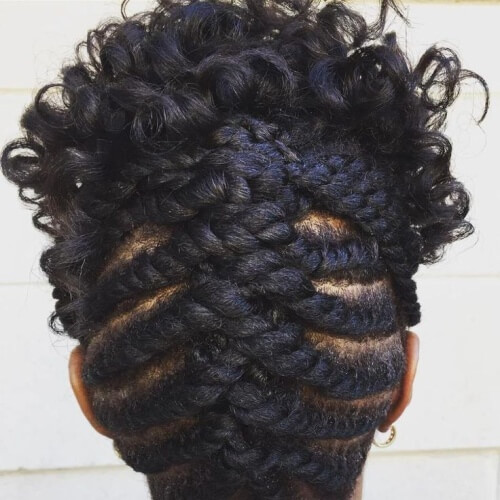 Flat Twist Mohawk Braid