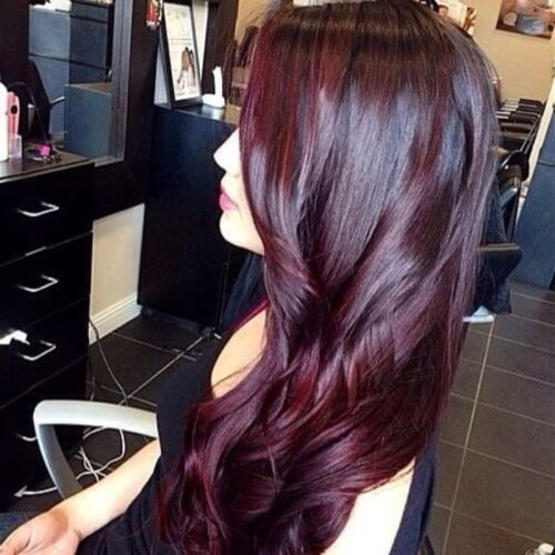 Intense Black Cherry Hair